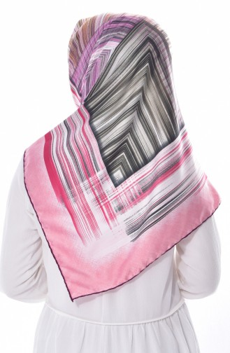 Striped Rayon Scarf BNJLEABlO-02 Violet 02