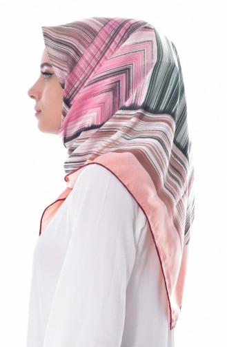 Gestreiftes Kopftuch aus Kunstseide BNJLEABlO-09 Kirsche 09