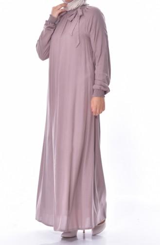 Kolu Lastikli Elbise 3002-05 Vizon 3002-05