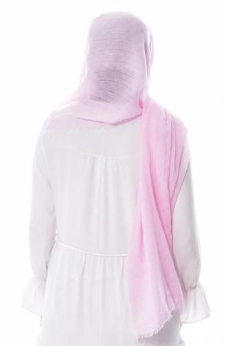 U.S POLO ASSN. Embroideried Crinkle Cotton Shawl 38-B-3612 Light Pink 38-B-3612