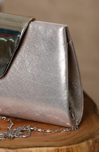 حقيبة يد لون ذهبي 0398-02
