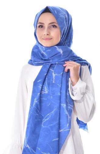 AKEL Printed Cotton Shawl 001-308-20 Baby Blue 001-308-20