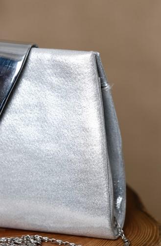 حقيبة يد رمادي فضي 0398-03