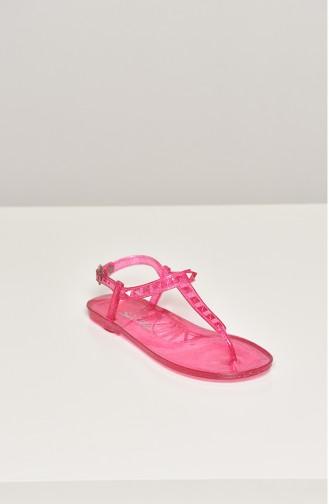 Red Summer Sandals 1605-17-03