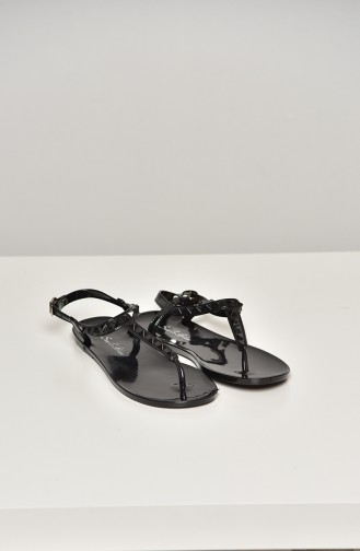 Black Summer Sandals 1600-17-01