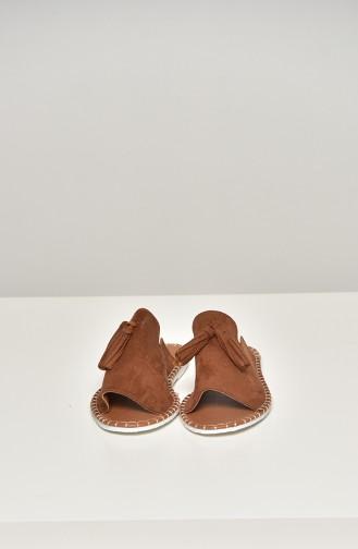 Tobacco Brown Summer Sandals 90-18-06