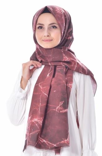 Akel Bedruckter Schal aus Baumwolle 001-308-22 Zimt 001-308-22