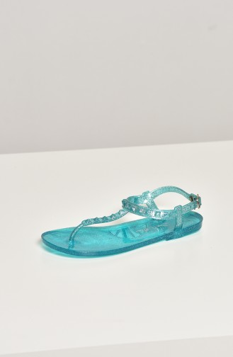 Turquoise Summer Sandals 1605-17-02