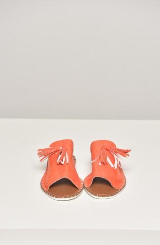 Orange Summer Sandals 90-18-03