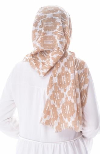 U.S POLO ASSN. Schal aus Baumwolle 2548-20 Dunkel Beige Hell Beige 2548-20
