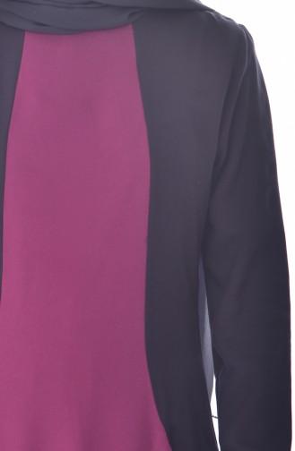 Garnili Cepli Elbise 4470-06 Mürdüm 4470-06