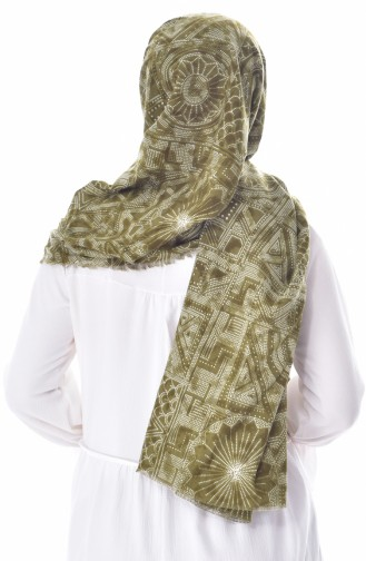 U.s Polo Assn. Printed Cotton Shawl 2292-23 Green 2292-23
