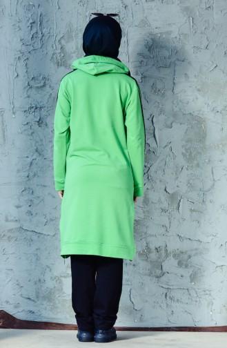 بدلة رياضية موصولة بقبعة 18092-02 لون اخضر فاتح 18092-02