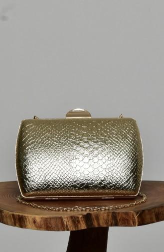 Goldfarbig Portfolio Handtasche 0276-01