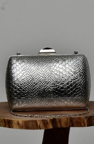حقيبة يد رمادي فضي 0276-03