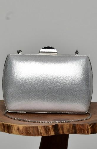 حقيبة يد رمادي فضي 0276-08