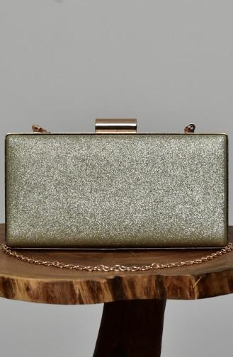 Damen Abendtasche mit Glitzer 0279-01 Gold 0279-01