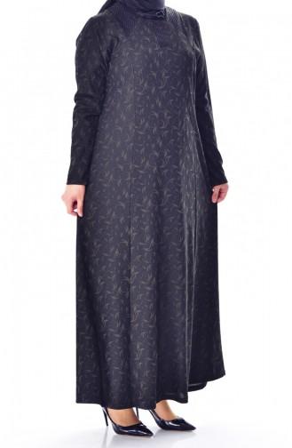 Robe Jacquard Grande Taille 4885-01 Khaki 4885-01
