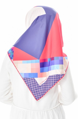 U.S POLO ASSN. Printed Twill Scarf 2492-02 Red Navy Blue Light Beige 2492-02