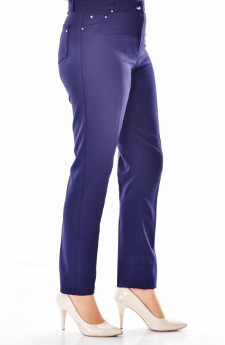 Pantalon Simple avec Poches 0004-03 Bleu Marine 0004-03