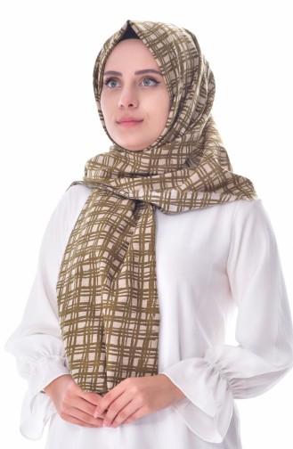 AKEL Printed Cotton Shawl 001-312-42 Green 001-312-42