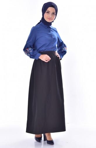 Elastic Waist Skirt 1444-02 Black 1444-02