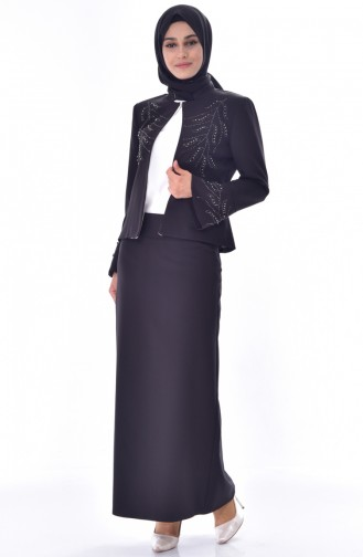 Sefamerve 3 Pcs Suit 1182-03 Black 1182-03