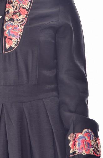 Embroidered Dress 2019-04 Black 2019-04