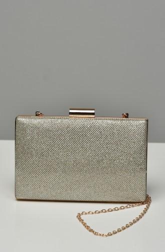 حقيبة يد لون ذهبي 0278-03