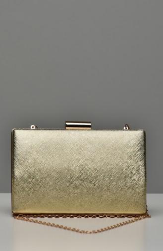 حقيبة يد لون ذهبي 0278-06