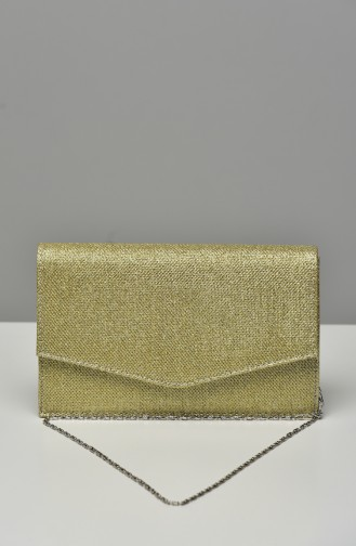 Gold Colour Portfolio Hand Bag 0460-02