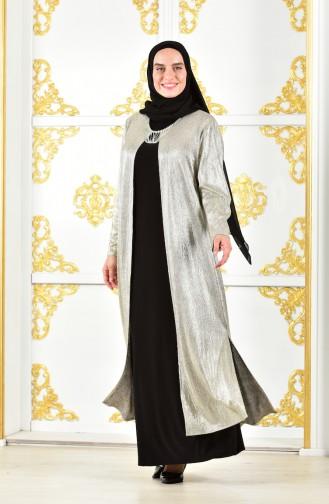 Übergröße Abendkleid 1060-03 Gold 1060-03