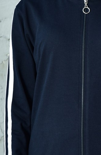 بدلة رياضية بتصميم سحاب 10100B-02 لون كحلي 10100B-02