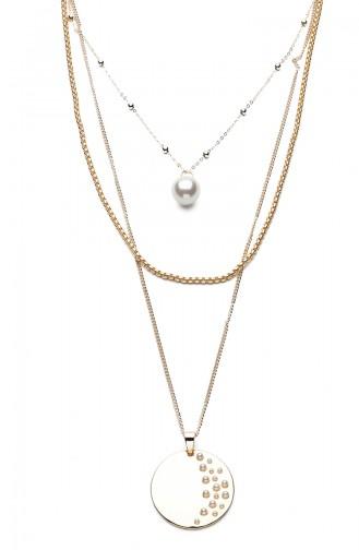 Silver Gray Necklace 9311-01