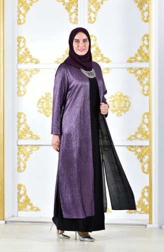Robe de Soirée Grande Taille 1060-02 Pourpre 1060-02