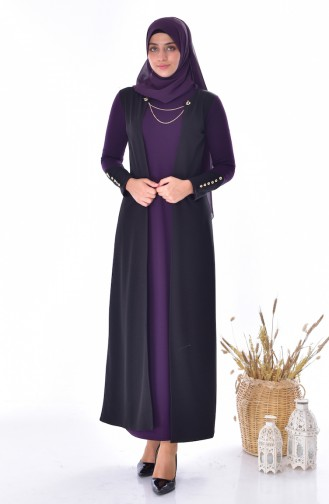 Suit Looking Dress 4482-02 Purple 4482-02