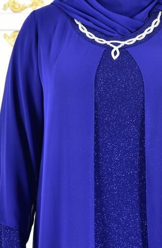 Übergröße Abendkleid mit Glitzer 1047-03 Saks 1047-03
