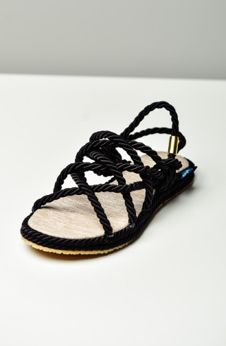 Black Summer Sandals 0105-01