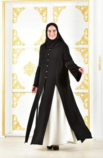 Long Jacket Dress 1817032-205 Black White 1817032-205