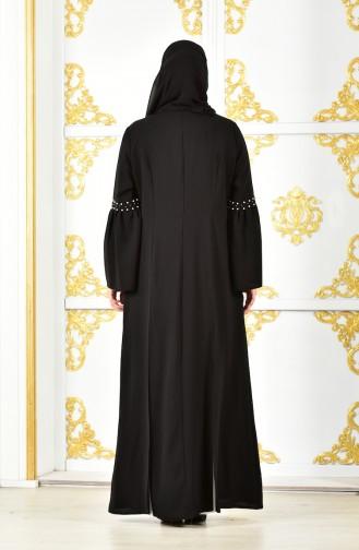 Robe a Veste Longue 1817032-205 Noir Blanc 1817032-205