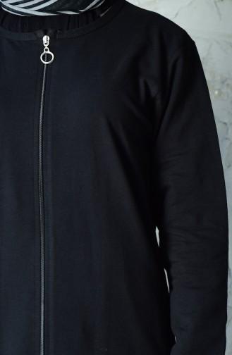 Fermuarlı Eşofman Takım 10110C-01 Siyah 10110C-01