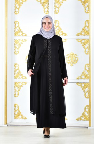 Large Size Double Suit 7006-01 Black 7006-01