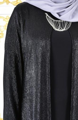 فستان سهرة وبمقاسات كبيرة 1060-04 لون اسود 1060-04