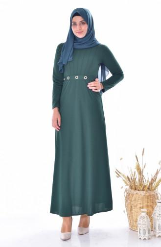 Belted Dress 4474-03 Emerald Green 4474-03