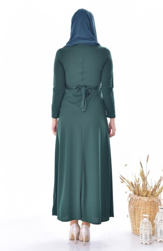 Robe a Ceinture 4474-03 Vert emeraude 4474-03