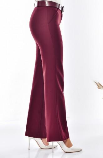 Pantalon a Ceinture 3068-10 Bordeaux 3068-10