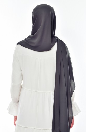 XL Schal aus Kreppstoff 50051-56 Dunkel Khaki 56