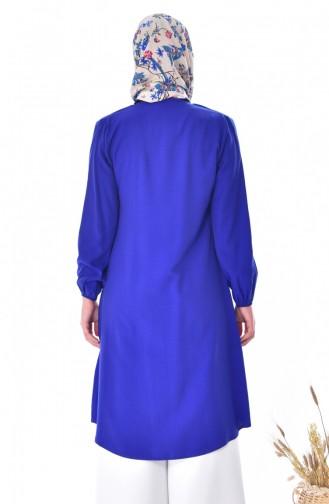 Tunique a Boutons 1171-03 Bleu Roi 1171-03