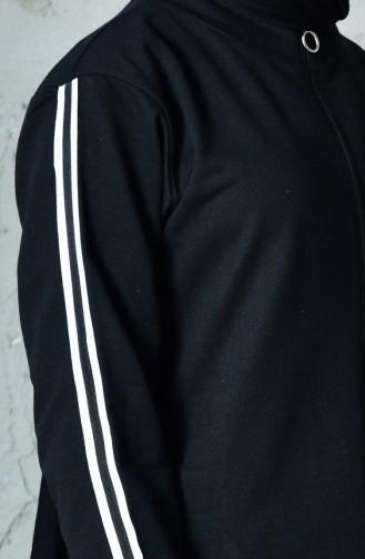 Fermuarlı Eşofman Takım 18095-01 Siyah 18095-01