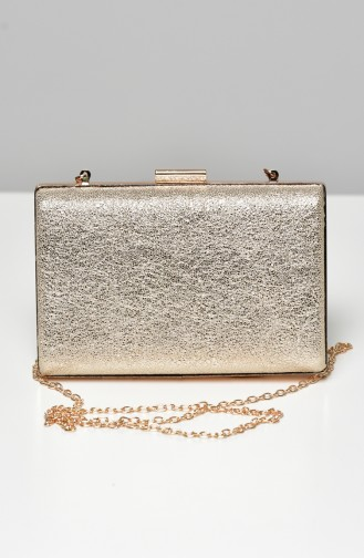 Gold Colour Portfolio Hand Bag 0275-06